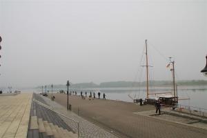Morgens um kurz vor Sieben am Stadthafen: Schon gut was los!