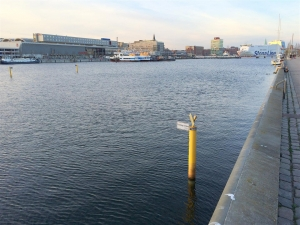 Heringsangeln in Kiel an der Hörn - hier der Sperrbezirk