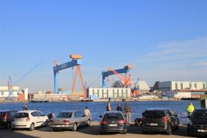 Heringsangeln in Kiel am Sartorikai