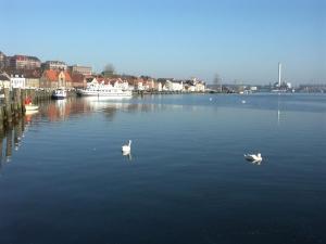 Angelplatz Flensburg Hafen in der Flensburger Förde