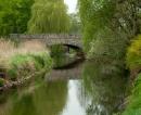 Blick auf Brücke am Rand von Bad Bramstedt