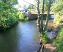 Die Pinnau an der Brücke Himmelmoorweg